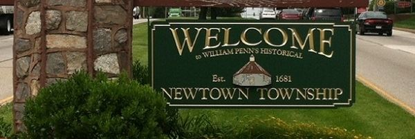 Welcome Newtown Township Sign