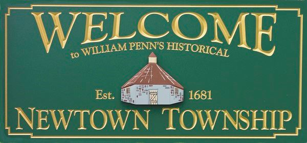 Newtown Township Welcome Sign